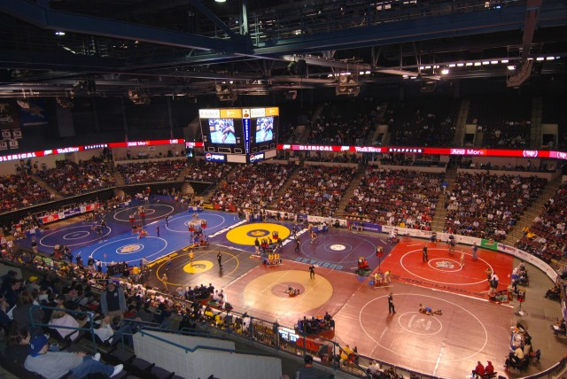 Rabobank Arena during the CIF State Wrestling Tournament