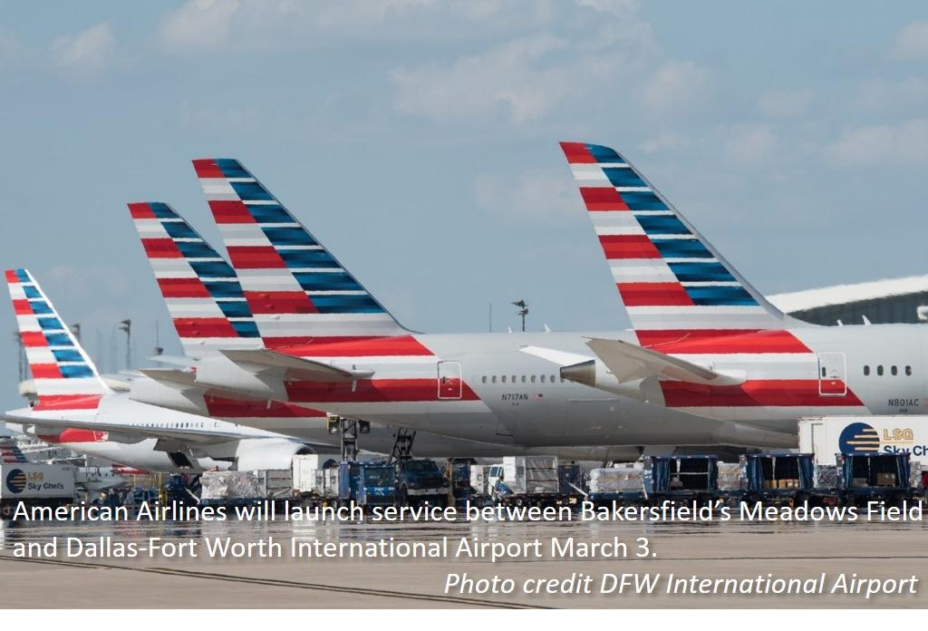 American Airlines Announces New Bakersfield Flights to Dallas-Ft. Worth