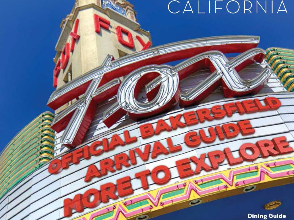 Bakersfield Arrival Guide Wins Award