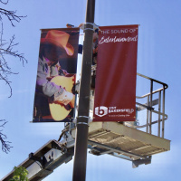 New Banners Bring Color, Excitement to Bakersfield's Amtrak Parking Lot